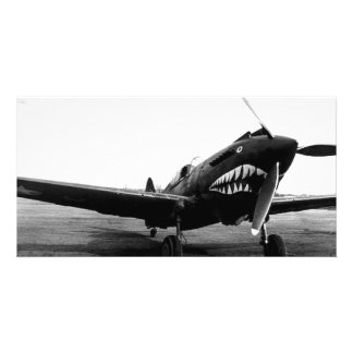 WWII Flying Tigers Curtiss P-40 Fighter Plane Photo Card
