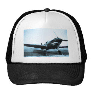 WWII Flying Tigers Curtiss P-40 Fighter Plane Trucker Hat