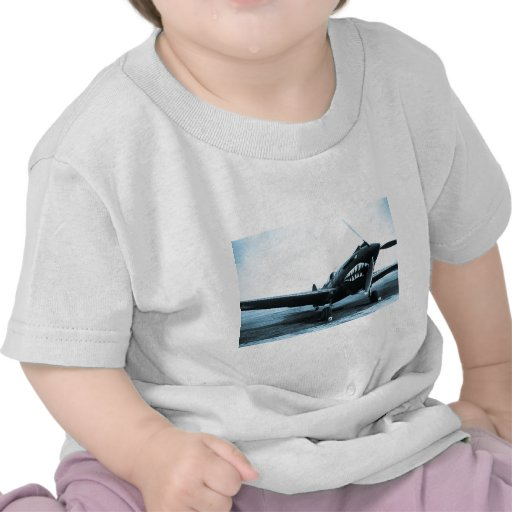 WWII Flying Tigers Curtiss P-40 Fighter Plane T Shirts