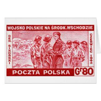 WWII General Sikorski Greeting Card