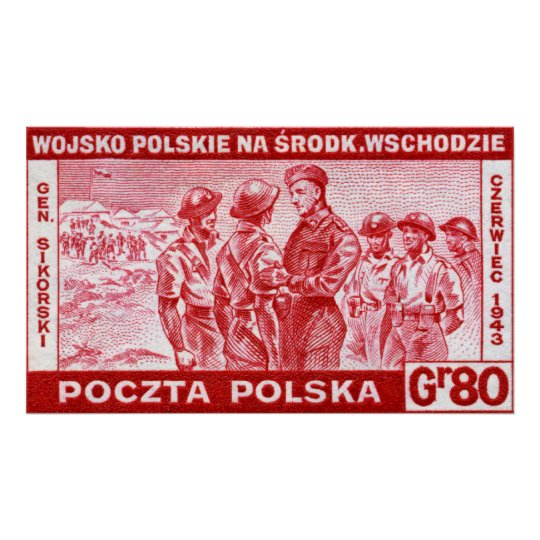 WWII General Sikorski Poster