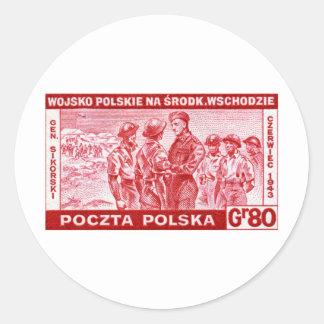 WWII General Sikorski Classic Round Sticker