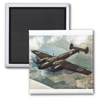 WWII German Bf-110 in Flight Magnets