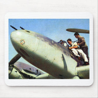 WWII German Bf-110 + Pilot Mouse Pads