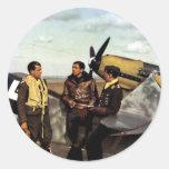 WWII German ME-109 Pilots Classic Round Sticker
