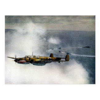 WWII German ME-110 over the North Sea Postcard