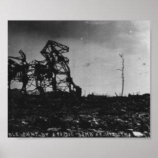 WWII Hiroshima después de la bomba atómica Impresiones
