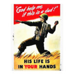Wwii In Your Hands Flyer Design