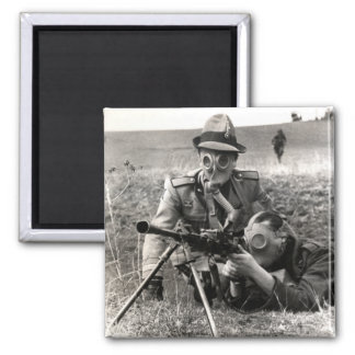 WWII Italian Soldiers 2 Inch Square Magnet