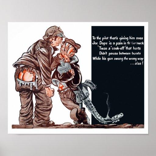 WWII Joe Dope Cartoon Print