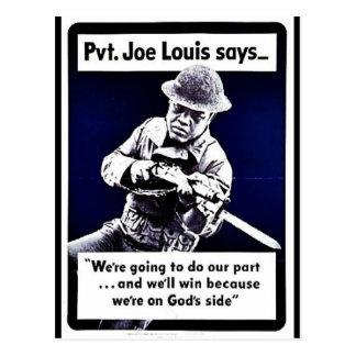 Wwii Joe Louis Tarjetas Postales