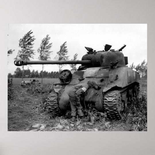 WWII KIA British Firefly Tank, Holland Poster