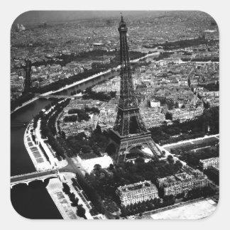 WWII Liberated Paris Square Sticker