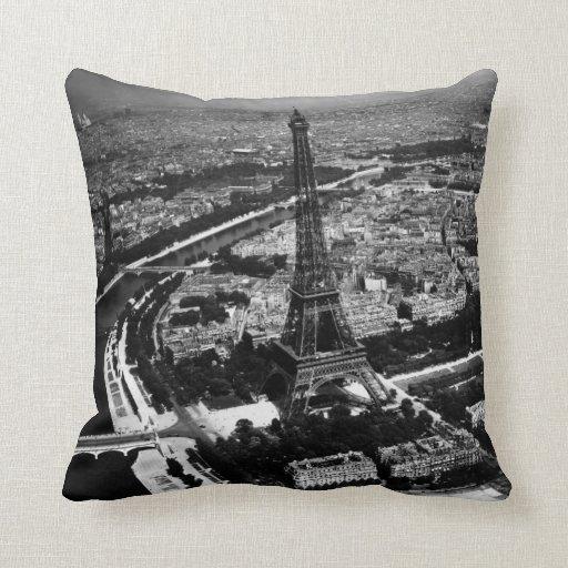 WWII Liberated Paris Throw Pillow