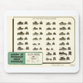 WWII Light Tank ID Chart Mouse Pad