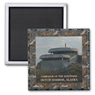 WWII Lookout Bunker on Bunker Hill 2 Inch Square Magnet