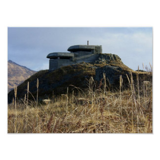 WWII Lookout Bunker on Bunker Hill Poster