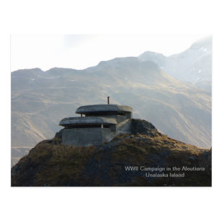 WWII Lookout Bunker on Unalaska Island Post Cards