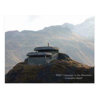WWII Lookout Bunker on Unalaska Island Postcard