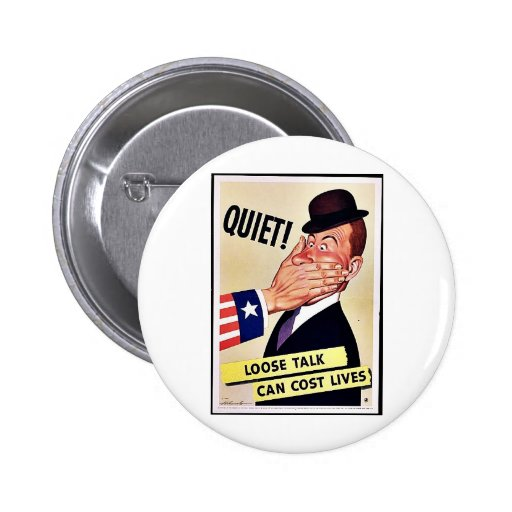 Wwii Loose Talk Button