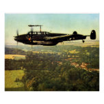 WWII Low Flying German Bf-110 Poster