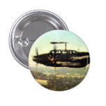 WWII Low Flying German ME-110 Pinback Buttons