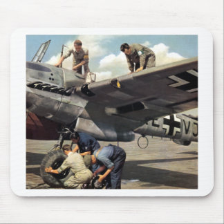 WWII Luftwaffe Ground Crew + ME-110 Mouse Pad