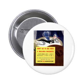 WWII Malaria Mosquito 2 Inch Round Button