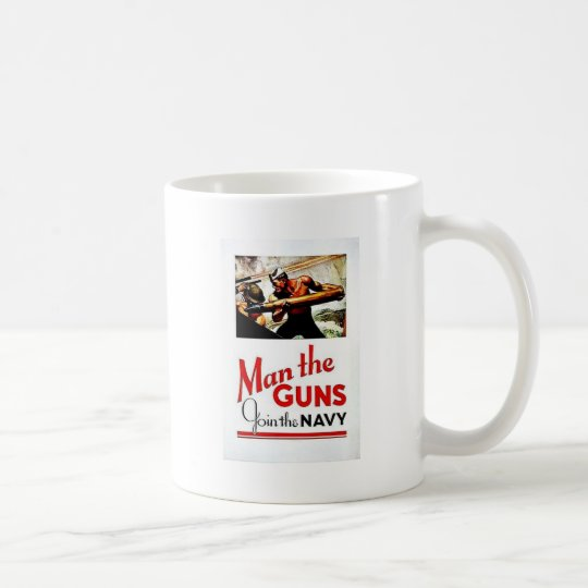 Wwii Man The Guns Coffee Mug