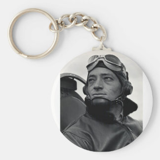 WWII Marine Corps Ace Major John Smith Basic Round Button Keychain