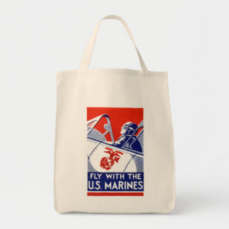 WWII Marine Corps Aviation Tote Bags
