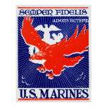 WWII Marine Corps Poster