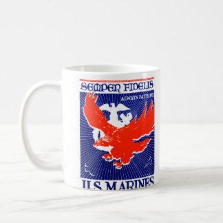 WWII Marine Corps Poster Coffee Mug