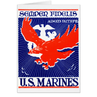 WWII Marine Corps Poster Greeting Card