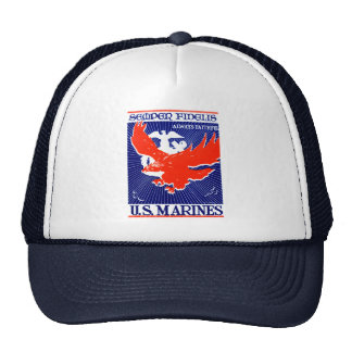 WWII Marine Corps Poster Mesh Hat