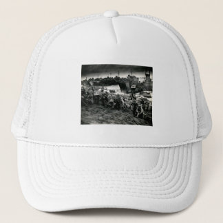 WWII Marines offload Supplies on Iwo Jima Trucker Hat