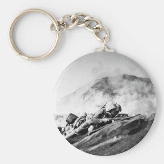 WWII Marines on Iwo Jima Beachhead Basic Round Button Keychain