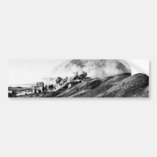 WWII Marines on Iwo Jima Beachhead Bumper Sticker