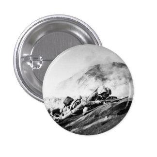 WWII Marines on Iwo Jima Beachhead Button