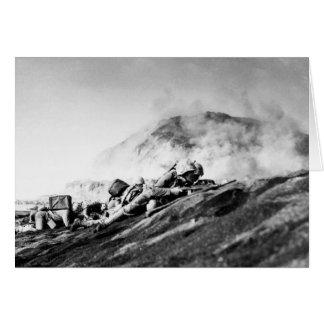 WWII Marines on Iwo Jima Beachhead Card