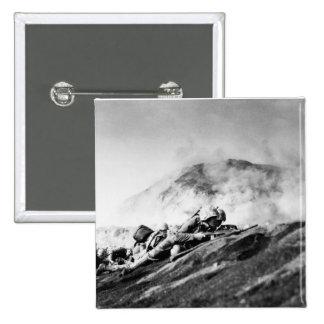 WWII Marines on Iwo Jima Beachhead Pinback Buttons