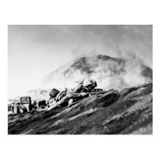 WWII Marines on Iwo Jima Beachhead Postcard