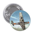 WWII ME-109 Aircraft in Flight 1 Inch Round Button