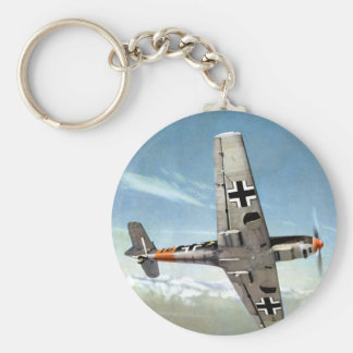 WWII ME-109 Aircraft in Flight Keychain