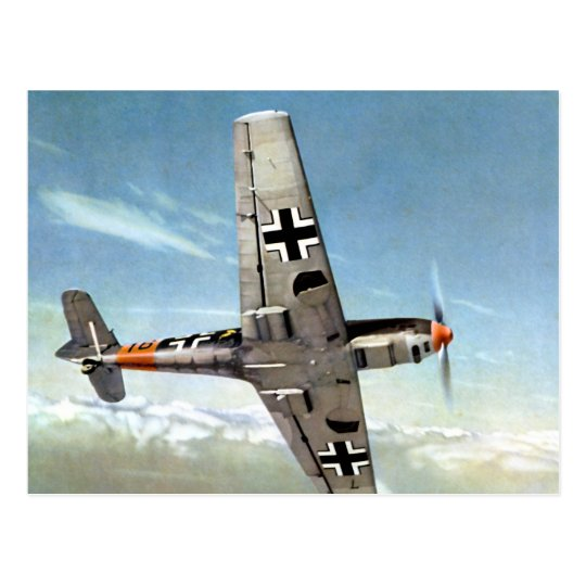 WWII ME-109 Aircraft in Flight Postcard