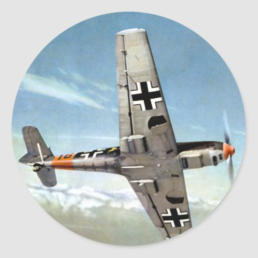 WWII ME-109 Aircraft in Flight Stickers