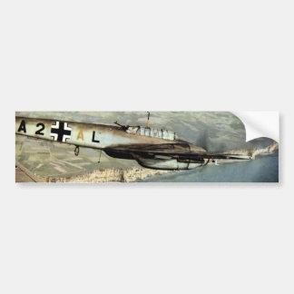 WWII ME-110 alemán sobre el canal inglés Pegatina Para Auto
