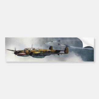 WWII ME-110 alemán sobre el Mar del Norte Pegatina Para Auto