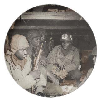 WWII Medics Waiting Dinner Plate
