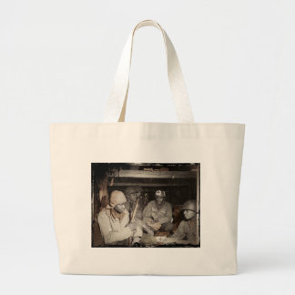 WWII Medics Waiting Large Tote Bag